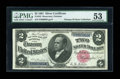 Large Size:Silver Certificates, Fr. 245 $2 1891 Silver Certificate PMG About Uncirculated 53....