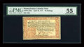 Colonial Notes:Pennsylvania, Pennsylvania April 10, 1777 40s PMG About Uncirculated 55....