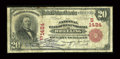 National Bank Notes:West Virginia, Wheeling, WV - $20 1902 Red Seal Fr. 639 The NB of West VirginiaCh. # (S)1424. ...