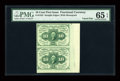 Fractional Currency:First Issue, Fr. 1242 10c First Issue Vertical Pair PMG Gem Uncirculated 65EPQ....