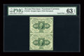 Fractional Currency:First Issue, Uncut Pair Fr. 1242 10c First Issue PMG Choice Uncirculated 63EPQ....