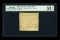 Colonial Notes:Massachusetts, Massachusetts October 16, 1778 2d PMG About Uncirculated 53 EPQ....