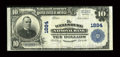 National Bank Notes:West Virginia, Wellsburg, WV - $10 1902 Plain Back Fr. 628 The Wellsburg NB Ch. #1884. ...