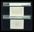 Fractional Currency:First Issue, Fr. 1313SP 50c First Issue Wide Margin Pair PMG Choice Uncirculated 64/About Uncirculated 55 Net.... (Total: 2 notes)