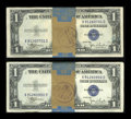 Small Size:Silver Certificates, Fr. 1612 $1 1935C Silver Certificates. Original Pack of 100. Choice Crisp Uncirculated.. ...