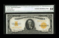 Large Size:Gold Certificates, Fr. 1173 $10 1922 Gold Certificate CGA Choice Uncirculated 64....