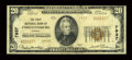 National Bank Notes:Virginia, Christiansburg, VA - $20 1929 Ty. 2 The First NB Ch. # 7937. ...