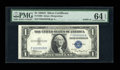Small Size:Silver Certificates, Fr. 1608 $1 1935A Silver Certificate. PMG Choice Uncirculated 64 EPQ.. ...