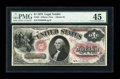 Large Size:Legal Tender Notes, Fr. 25 $1 1875 Legal Tender PMG Choice Extremely Fine 45....