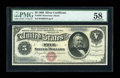 Large Size:Silver Certificates, Fr. 260 $5 1886 Silver Certificate PMG Choice About Unc 58....