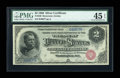 Large Size:Silver Certificates, Fr. 240 $2 1886 Silver Certificate PMG Choice Extremely Fine 45 EPQ....