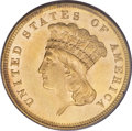 Three Dollar Gold Pieces, 1861 $3 MS62 PCGS....