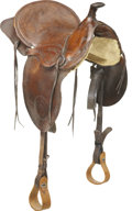 Western Expansion:Cowboy, Wonderful Wild West Cowboy Saddle, Unmarked, circa 1900s....