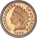 Proof Indian Cents, 1862 1C PR67 Cameo NGC. CAC....