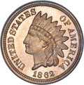 Proof Indian Cents, 1862 1C PR67 Cameo PCGS....