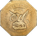 Territorial Gold, 1851 $50 RE Humbert Fifty Dollar, 880 Thous. XF45 NGC. CAC....