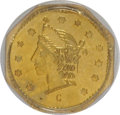 California Fractional Gold: , 1864 50C Liberty Octagonal 50 Cents, BG-918, R.4, MS64 PCGS. PCGSPopulation (6/0). NGC Census: (3/0). (#10776)...