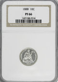 Proof Seated Dimes, 1888 10C PR66 NGC....