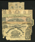 Confederate Notes:Group Lots, Confederate and Southern States Notes.. ... (Total: 8 notes)