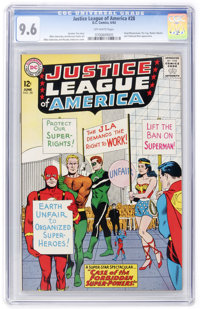 Justice League of America #28 (DC, 1964) CGC NM+ 9.6 Off-white pages