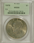Eisenhower Dollars: , 1976 $1 Type Two MS66 PCGS. PCGS Population (358/8). NGC Census: (280/2). Mintage: 113,318,000. Numismedia Wsl. Price for N...