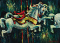 Texas:Early Texas Art - Modernists, LLOYD LOZES GOFF (American, 1908-1982). State Fair Horses.Oil on panel. 18 x 24 inches (45.7 x 61.0 cm). Signed lower r...