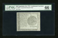Colonial Notes:Continental Congress Issues, Continental Currency September 26, 1778 $60 Blue CounterfeitDetector PMG Gem Uncirculated 66 EPQ....