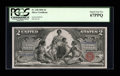 Large Size:Silver Certificates, Fr. 248 $2 1896 Silver Certificate PCGS Superb Gem New 67PPQ....