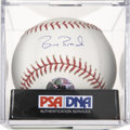 Autographs:Baseballs, Barry Bonds Single Signed Baseball, PSA Mint 9. ...