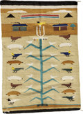 American Indian Art:Weavings, A NAVAJO PICTORIAL RUG. c. 1960...