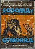 "Movie Posters:Historical Drama, Sodom and Gomorrah (In Cine, R-1973). Spanish One Sheet (27.5"" X 39""). Historical Drama...."