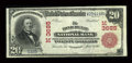 National Bank Notes:Wisconsin, Fond Du Lac, WI - $20 1902 Red Seal Fr. 641 The Fond Du Lac NB Ch. # (M)3685. ...