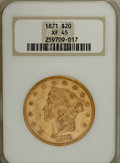 Liberty Double Eagles: , 1871 $20 XF45 NGC. PCGS Population (22/78). Mintage: 80,150.Numismedia Wsl. Price for NGC/PCGS coin in ...