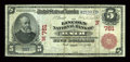 National Bank Notes:Maine, Bath, ME - $5 1902 Red Seal Fr. 587 The Lincoln NB Ch. # (N)761....