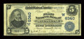 National Bank Notes:Wyoming, Meeteetse, WY - $5 1902 Date Back Fr. 590 The First NB Ch. #(W)6340. ...