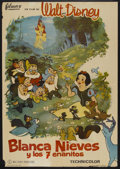 "Movie Posters:Animated, Snow White and the Seven Dwarfs (Walt Disney, R-1964). Spanish OneSheet (27"" X 39""). Animated...."