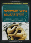 "Movie Posters:Sexploitation, Clinicamente Muerto Sexualmente Vivo (Big Screen International,1989) Spanish One Sheet (26.5"" X 37""). Sexploitation. ..."