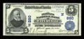 National Bank Notes:Maine, Waterville, ME - $5 1902 Plain Back Fr. 598 The Peoples NB Ch. #(N)880. ...