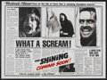 "Movie Posters:Horror, The Shining (Warner Brothers, 1980). British Quad (29.5"" X 40"") Advance. Horror...."
