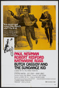 """Movie Posters:Western, Butch Cassidy and the Sundance Kid (20th Century Fox, 1969). OneSheet (27"""" X 41"""") Style B. Western...."""
