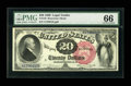 Large Size:Legal Tender Notes, Fr. 135 $20 1880 Legal Tender PMG Gem Uncirculated 66....