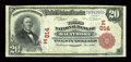 National Bank Notes:Maryland, Baltimore, MD - $20 1902 Red Seal Fr. 639 The Third NB Ch. #(E)814. ...