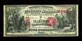 National Bank Notes:Maine, Searsport, ME - $5 1875 Fr. 405 The Searsport NB Ch. # 2642. ...