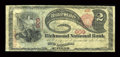 National Bank Notes:Maine, Richmond, ME - $2 1875 Fr. 390 The Richmond NB Ch. # 909. ...