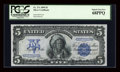 Large Size:Silver Certificates, Fr. 271 $5 1899 Silver Certificate PCGS Superb Gem New 68PPQ....