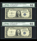 Error Notes:Major Errors, Fr. 1617* $1 1935G With Motto Silver Certificate. PMG ChoiceUncirculated 64 EPQ.. ... (Total: 2 notes)