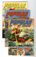 Golden Age (1938-1955):Miscellaneous, Popular Comics Group (Dell, 1944-45) Condition: Average VF+.... (Total: 4 Comic Books)