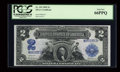 Large Size:Silver Certificates, Fr. 255 $2 1899 Silver Certificate PCGS Gem New 66PPQ....