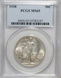 Walking Liberty Half Dollars: , 1938 50C MS65 PCGS. PCGS Population (1057/513). NGC Census:(710/281). Mintage: 4,118,152. Numismedia Wsl. Price for NGC/PC...