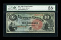 Large Size:Legal Tender Notes, Fr. 96 $10 1869 Legal Tender PMG Choice About Unc 58 EPQ....